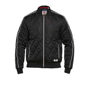 SKIPTON BLACK QUILTED BOMBER