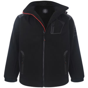 Men's plus size softshell jacket