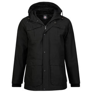 KEITH 82 BLACK PADDED PARKA
