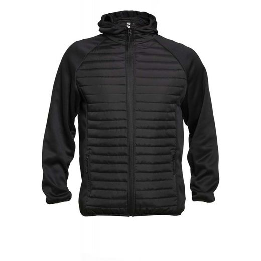 OKLAHOMA BLACK PARTLY PADDED JACKET