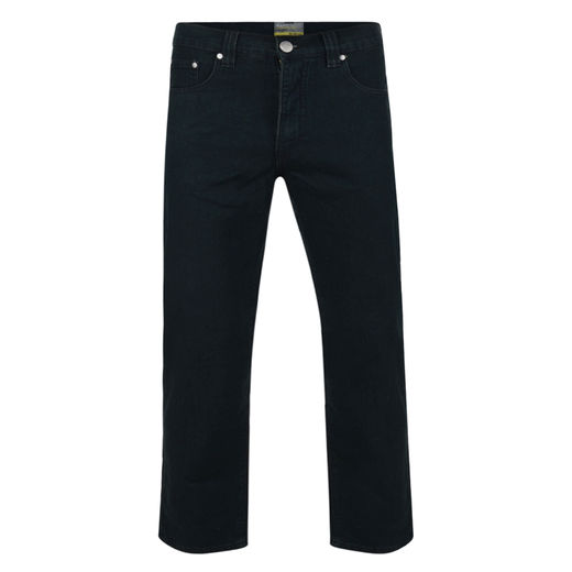 BLACK STRETCH JEANS - REGULAR LEG