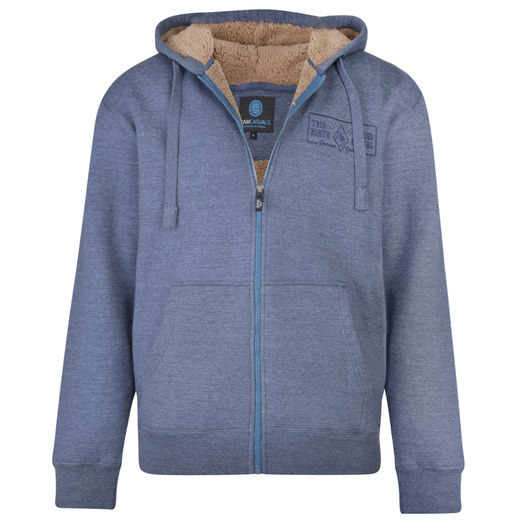 DENIM BORG LINED HOODY