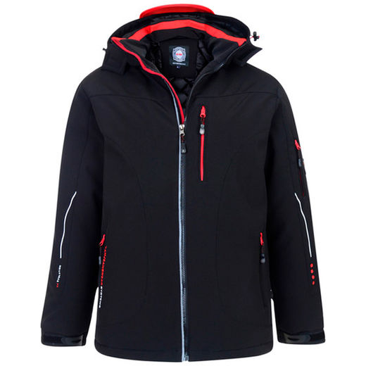 RENE 59 BLACK PADDED SOFTSHELL JACKET